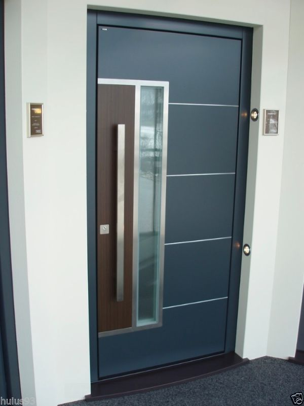 Stainless Steel Modern Entry Entrance Store Front Timber Glass Door