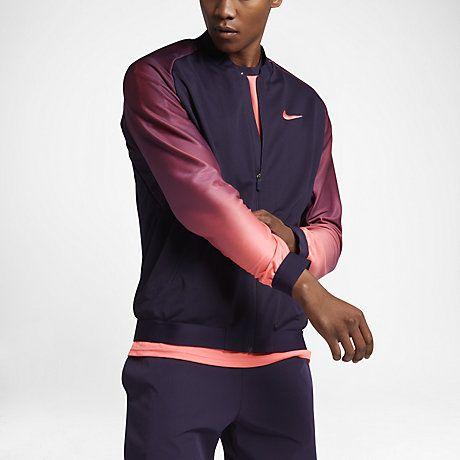 Nike Mens Hoodie Court Premier Tennis Jacket Green Red 801727 524010 Jackets Hoodies Men Nike Men