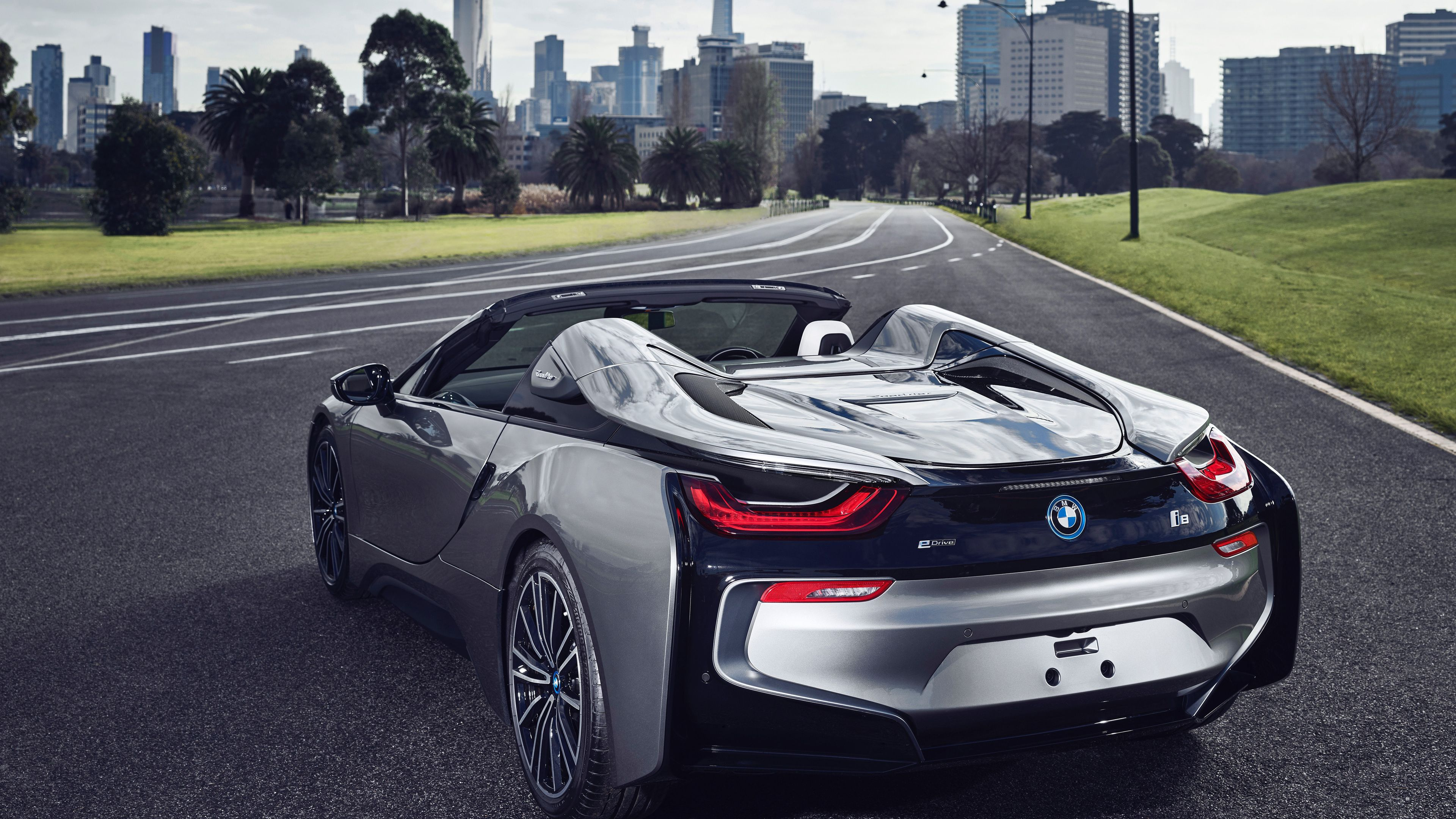 Bmw I8 Roadster 2018 Rear Hd Wallpapers Cars Wallpapers Bmw