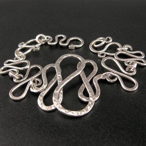 On SALE Hammered Sterling Wirework Bracelet by OzmayDesigns LOVE IT!