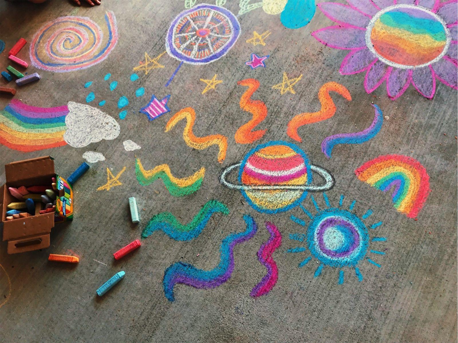 Vsco Lauren Maser151 Chalk Art Sidewalk Chalk Art Sidewalk Art