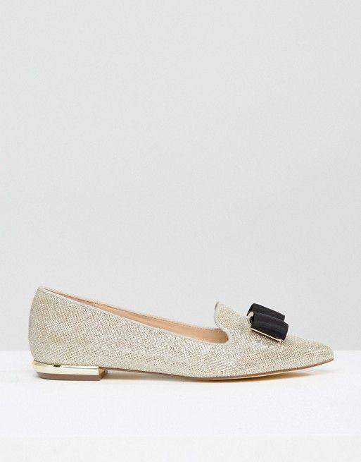 70d246831ee Carvela Bow Trim Slipper Loafers