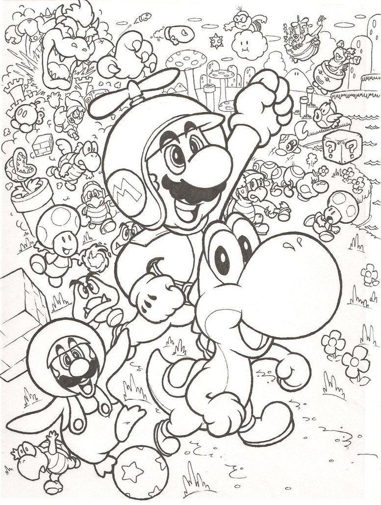 Kleurplaten Mario En Sonic.Leuke Kleurplaat Met Mario Mario Mario Coloring Pages