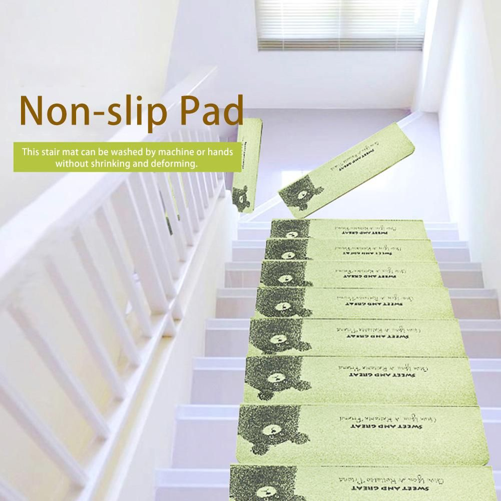 Best Bear Pattern Self Adhesive Non Slip Staircase Pads Step 400 x 300