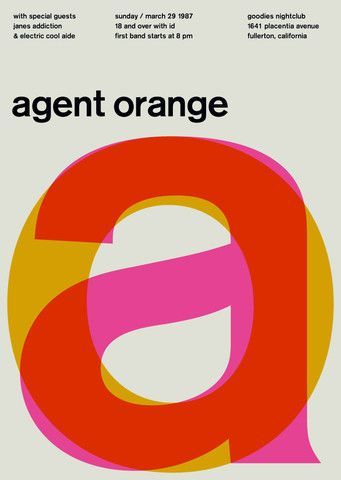 agent orange at goodies, 1987 | SwisstedShop