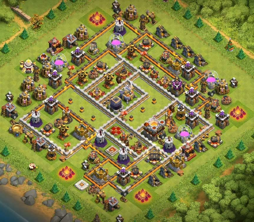 Coc Th11 Farming Base 10