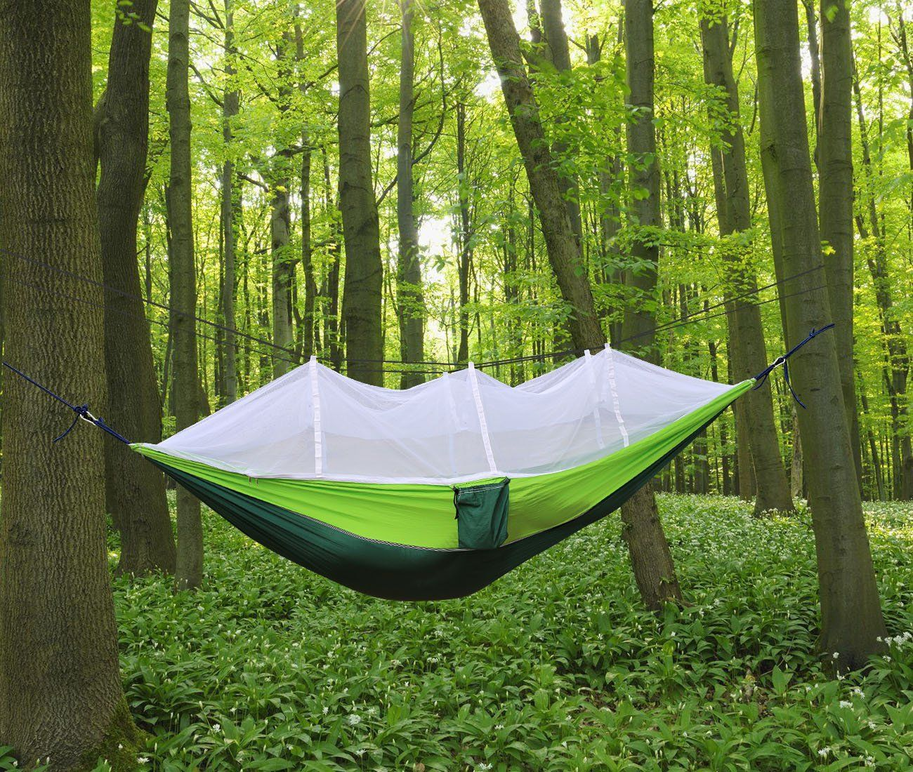 Camping Hammock Trofoty Portable Hammock With Mosquito Net Parachute