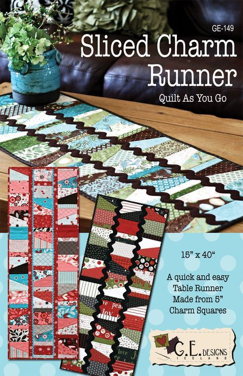 Sliced Charm Table Runners Sew What Pinterest Quilt Table