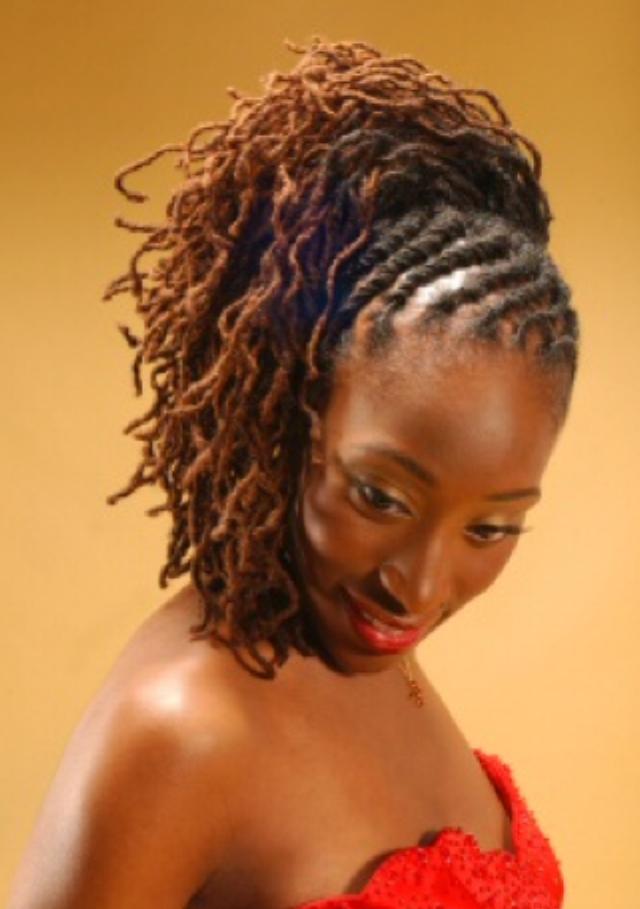 Natural Locs Hairstyles   Loc Updo   Black Women Natural Hairstyles - Natural Locs Hairstyles Loc Updo Black Women Natural