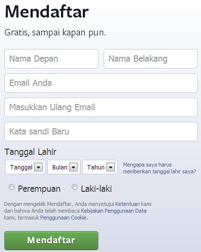 Jela Working: Cara Membuat Akun Di Facebook | Tanggal, Twitter ...