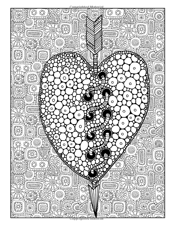 Amazon.com: Adult Coloring Book: Share The Love: A Unique Cute Adult Coloring Book With Owls Hearts Trees Pigs Puppies Folk Art Florals Henna Beginner Mandalas ... Relaxation Stress Relief & Art Color Therapy) (9781530281862): Papeterie Bleu Adult Coloring Books: Books
