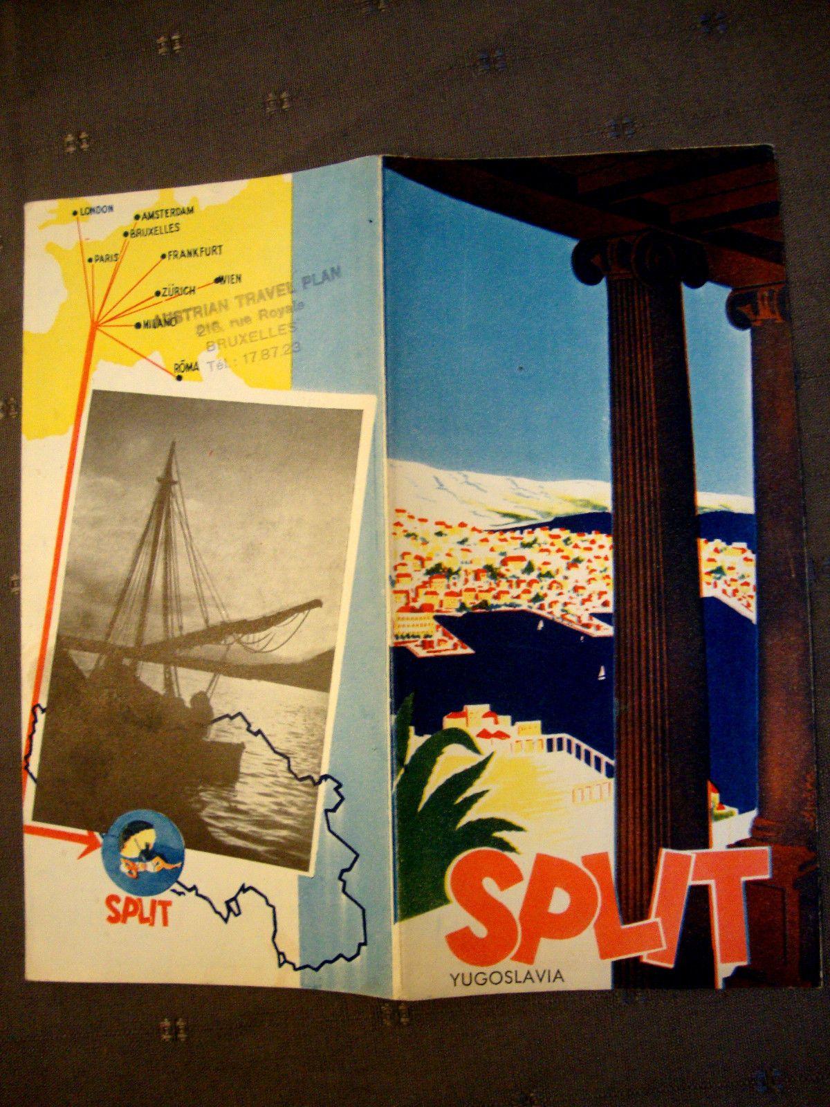 Split Jugoslavija Sales Brochure  Ebay  Travel  Yugoslavia