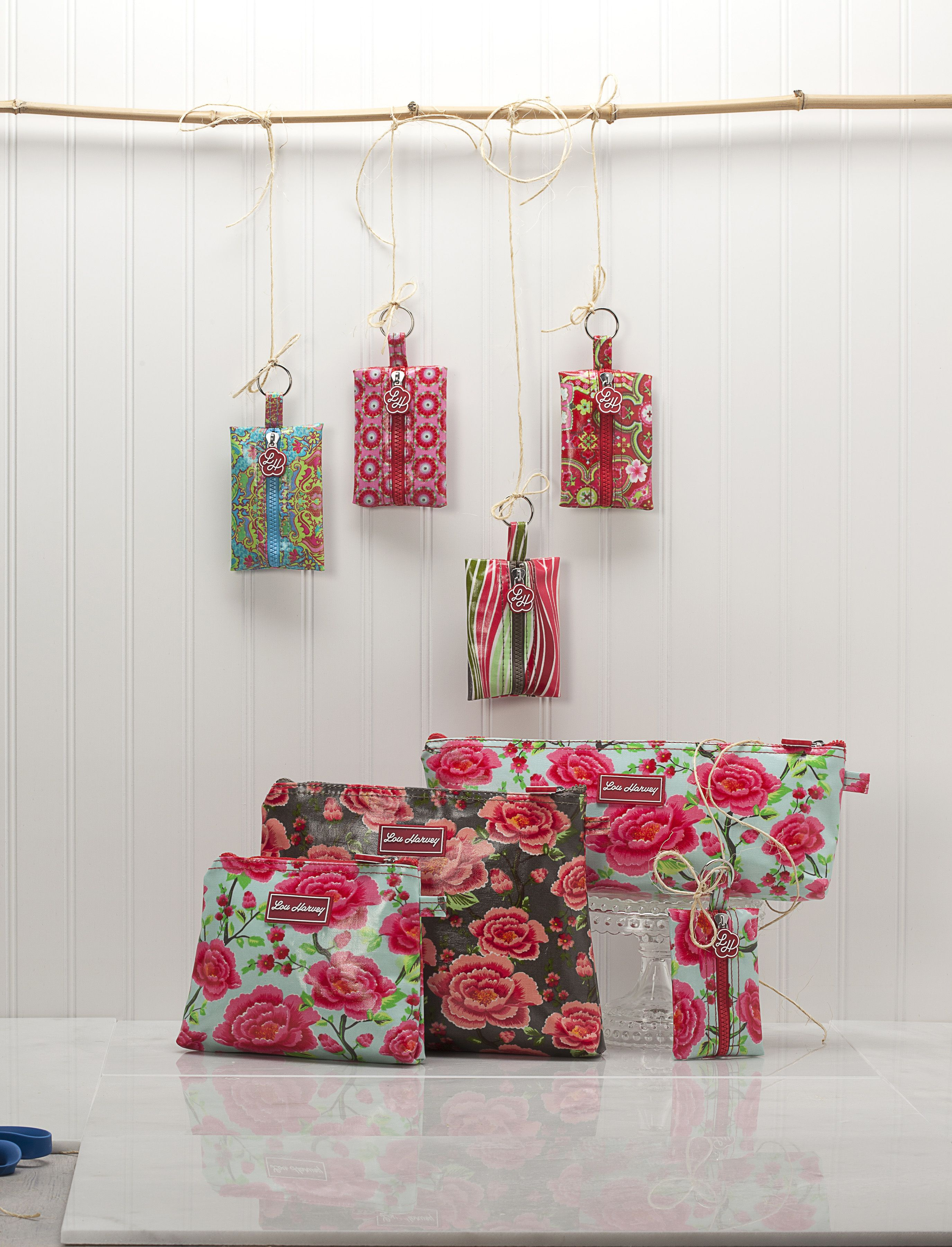 Cosmetic Bags and Coin Purses from #louharvey #vinylcovered #waterresistant