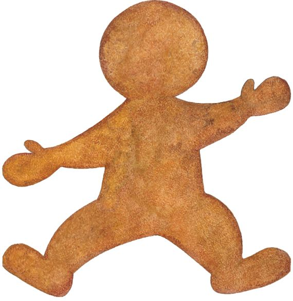 Make your own Jan Brett gingerbread man