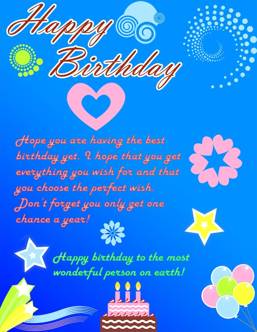 Beautifulelegant colorful happy birthday ecard – Send E Birthday Card