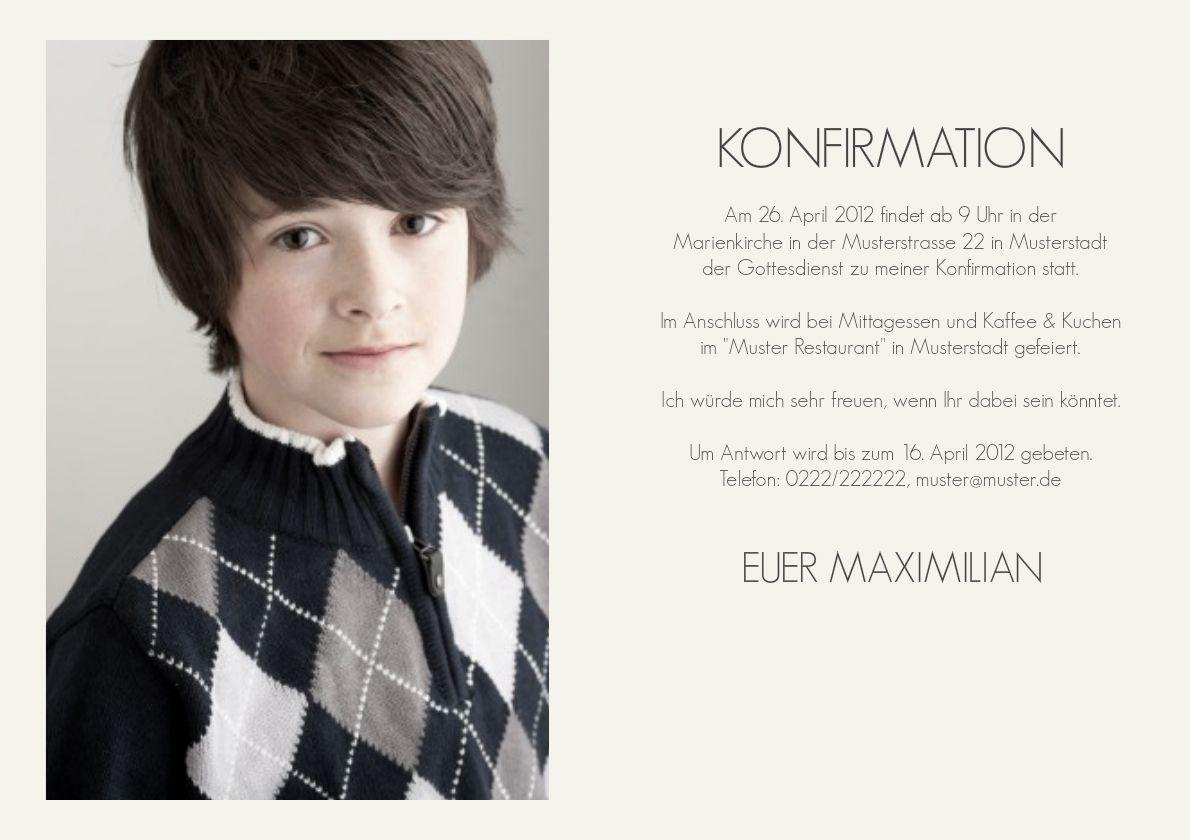 Einladung Konfirmation Text Lustig | Einladung Konfirmation | Pinterest