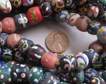 African beads from Ghana made of Glass