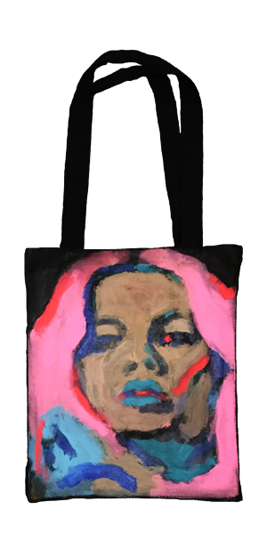 Hand Painted #Totebag