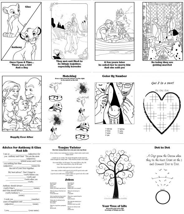 diy activity books for kids pic heavy wedding activity book coloring book diy kids - Wedding Coloring Books For Children