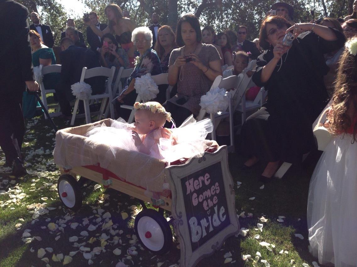 Kari's flower girl, baby Amelia Rose :-)