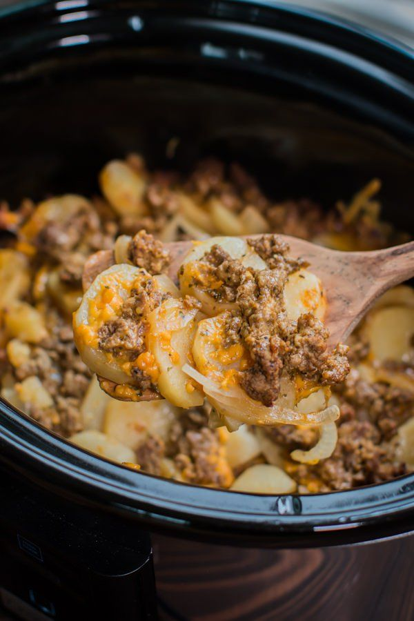 Slow Cooker Beef And Potatoes Au Gratin Recipe Slow Cooker