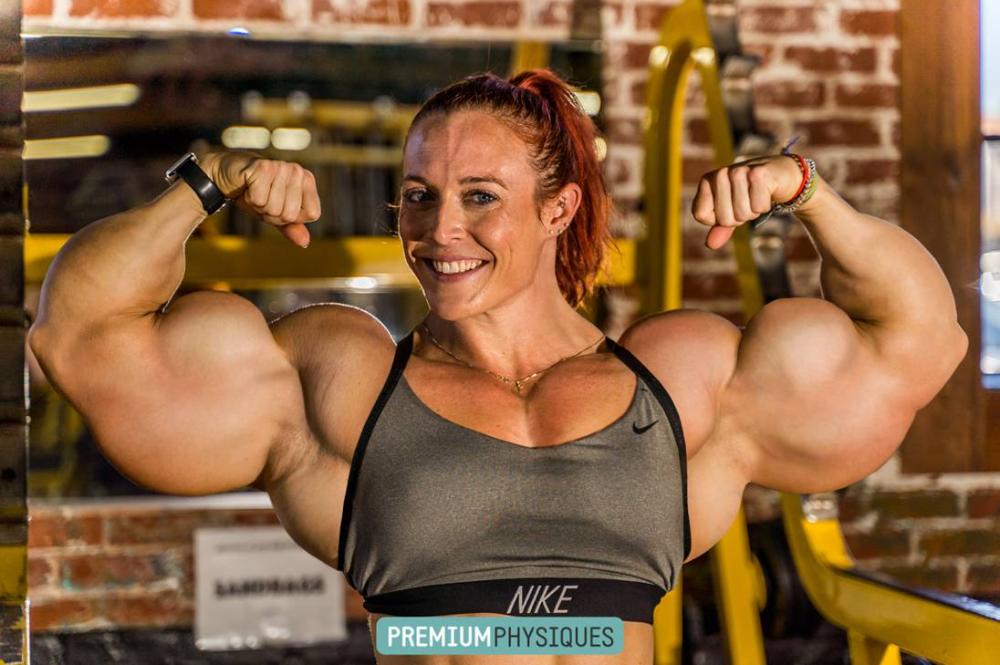Double Bicep Katie By Jderril On Deviantart Body Building Women Biceps Me As A Girlfriend