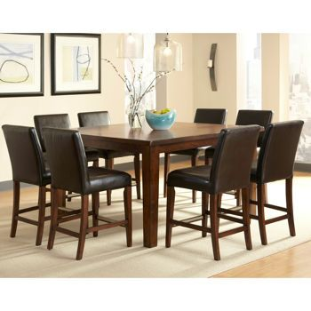 Brookshire 9pc Counter Height Dining Set Costco