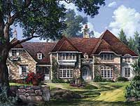 Plan 32410WP: Stately Five Bedroom Home Plan