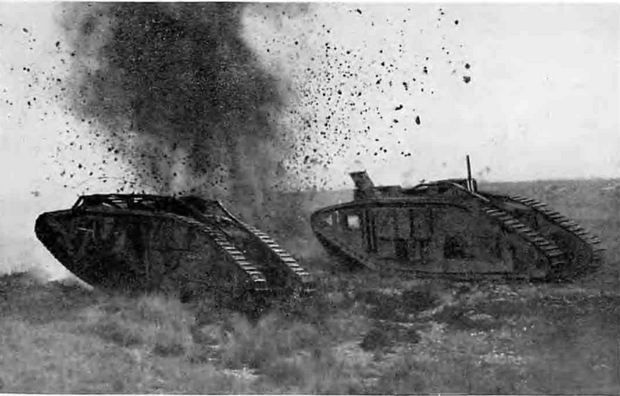 Wwi Tanks Wwi tanks on the attack. | WW I kdp | Pinterest | Wwi ...