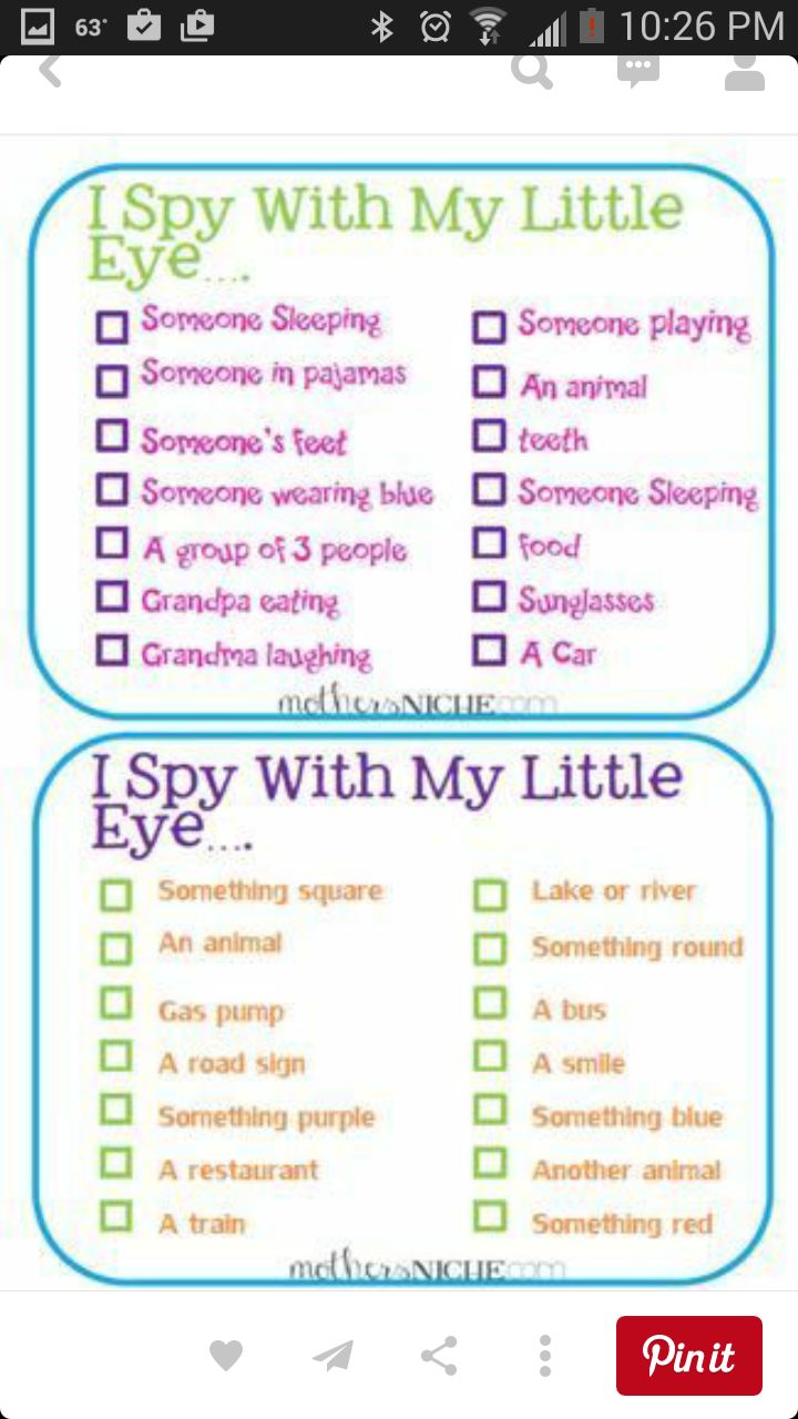 I Spy Photo Scavenger Hunt Printable