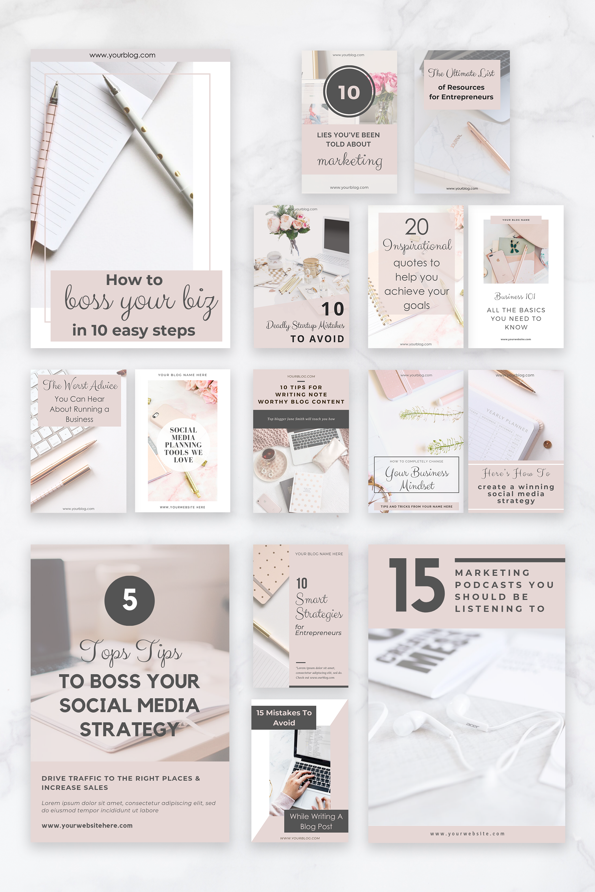 Pinterest Templates Pinterest Pin Design Canva Templates Etsy In 2020 Pinterest Templates Blog Post Graphics Graphic Design Tools