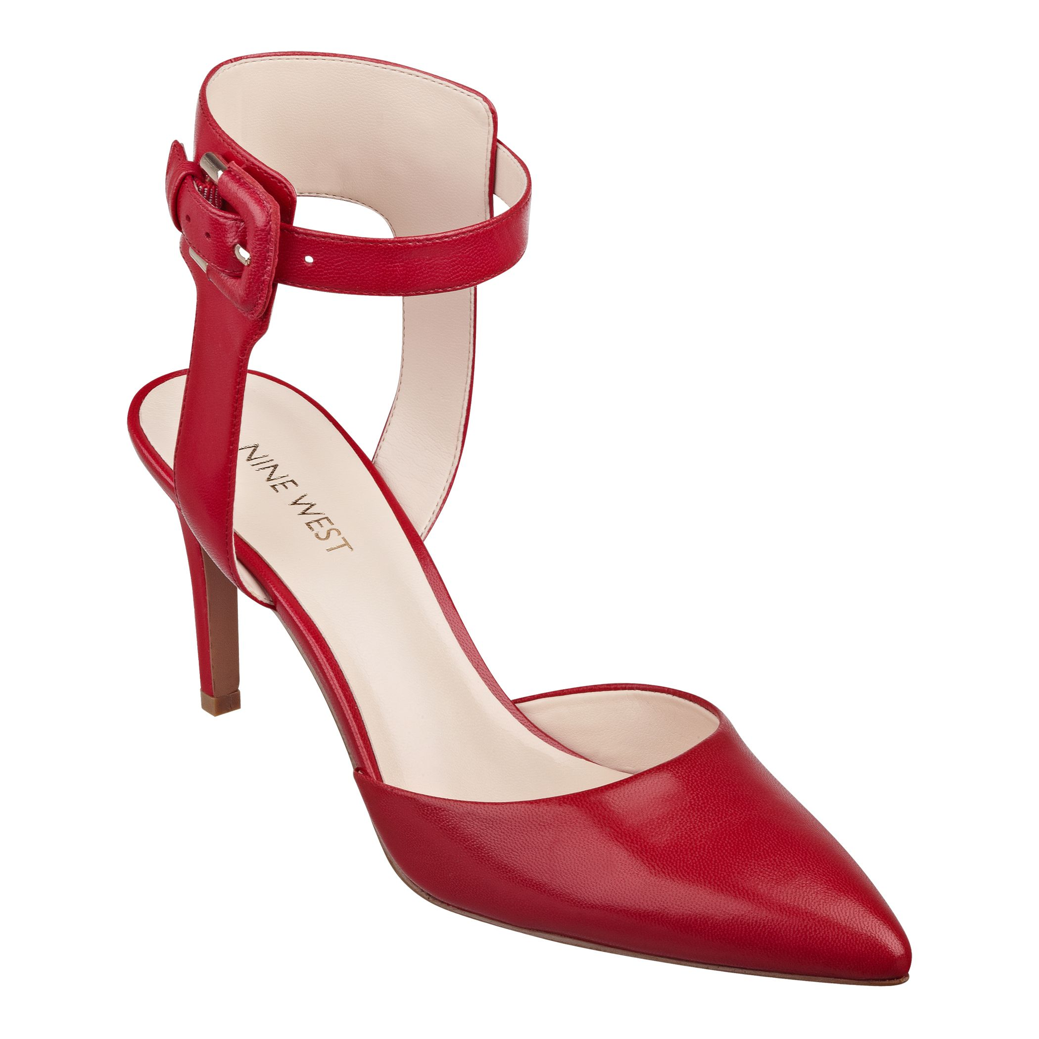 Red Color Party wear Nine west latest-fashion of stiletto heels collection for women