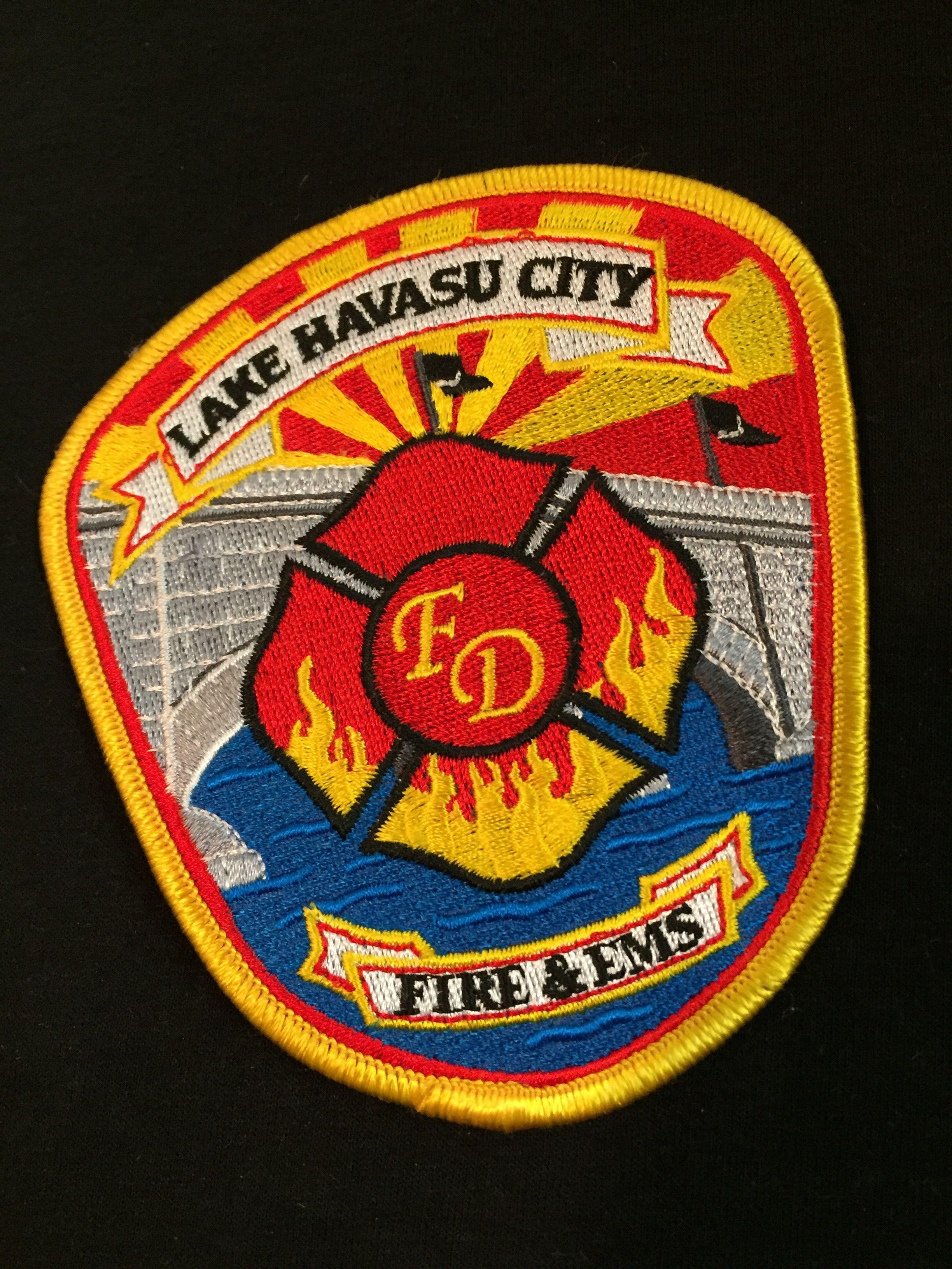 Lake Havasu Fire & EMS Firefighter, Patch logo, Patches