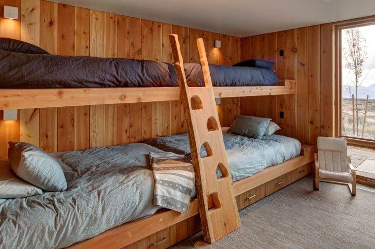Decoracion rústica para los dormitorios juveniles con encanto - escaleras de madera rusticas