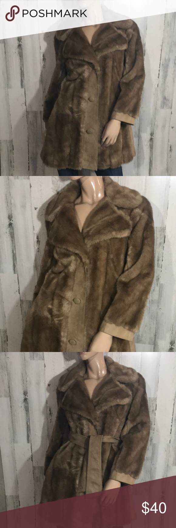 Suede and fur look coat in 2020 Coat, Jackets for women, Fur