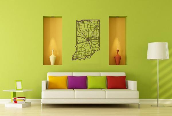 Indiana | Wood wall art, Wood walls and Laser cut wood