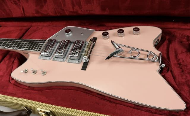 Gretsch Masterbuilt Custom Caddy Bo Shell Pink 3 Pickup Stephen ...