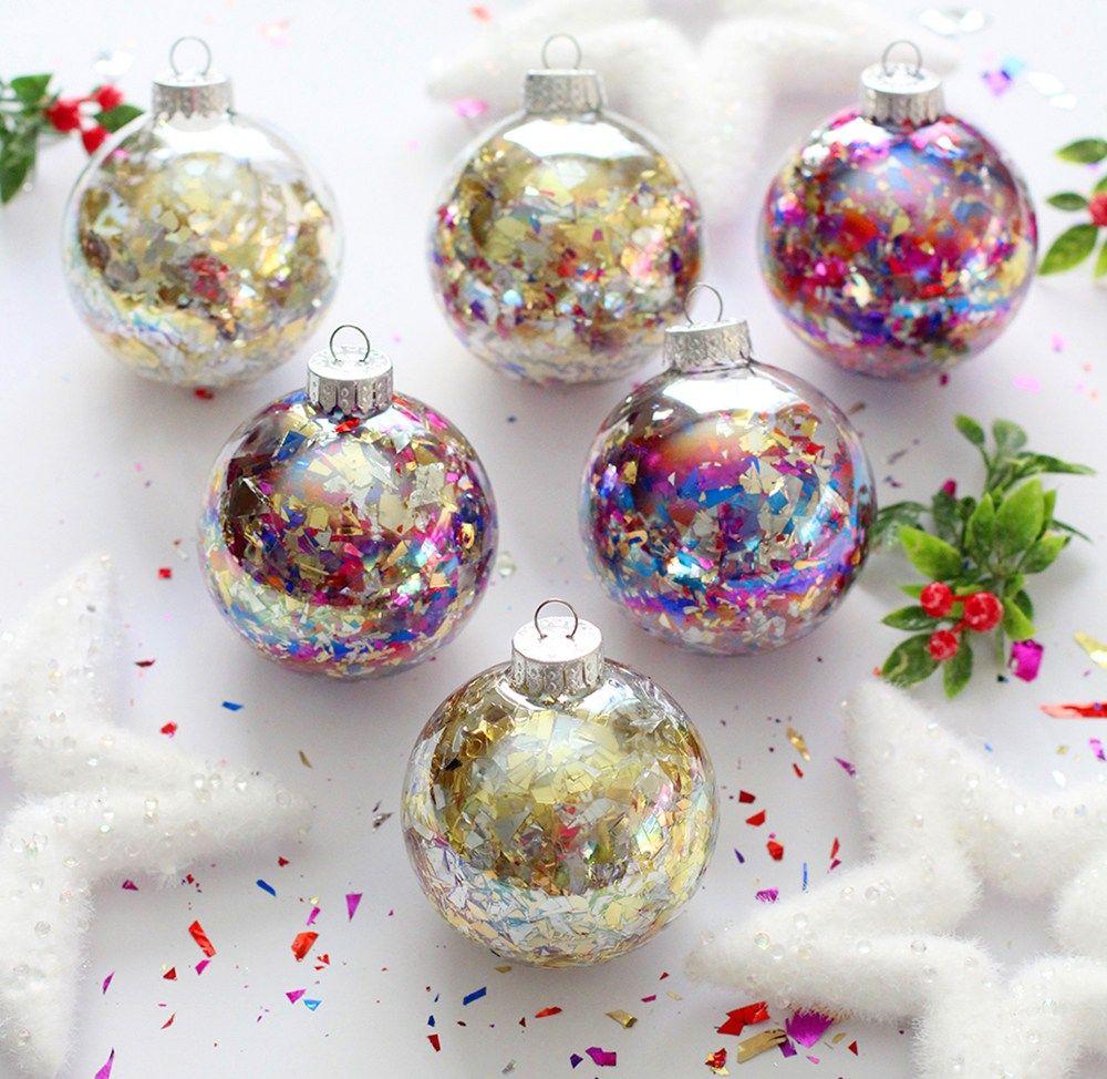 DIY Glitter Confetti Ornaments BlissMakes Diy
