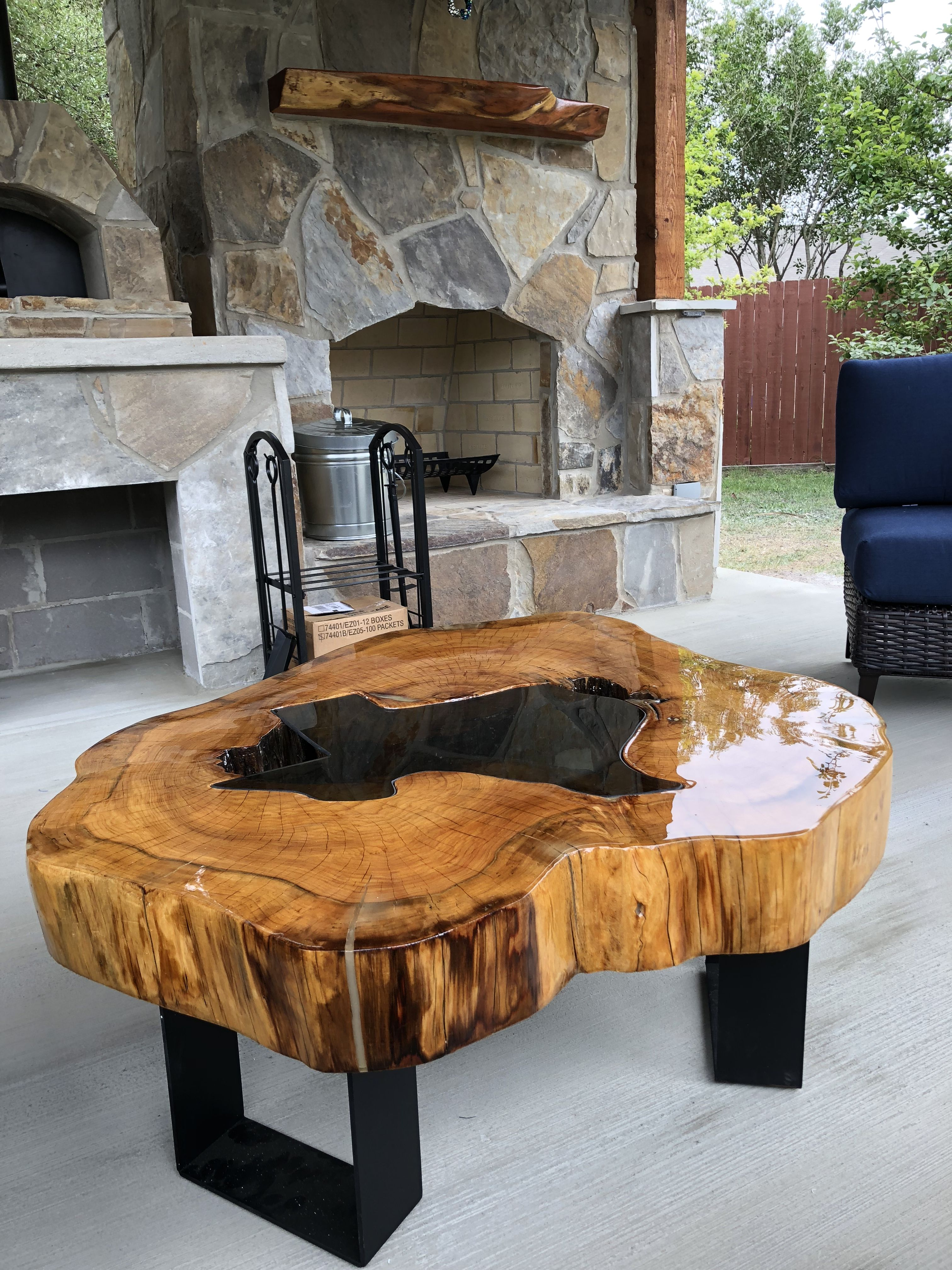 Cypress Round Texas Live Edge Table Epoxy Wood Table Resin Table Wood End Tables [ 4032 x 3024 Pixel ]