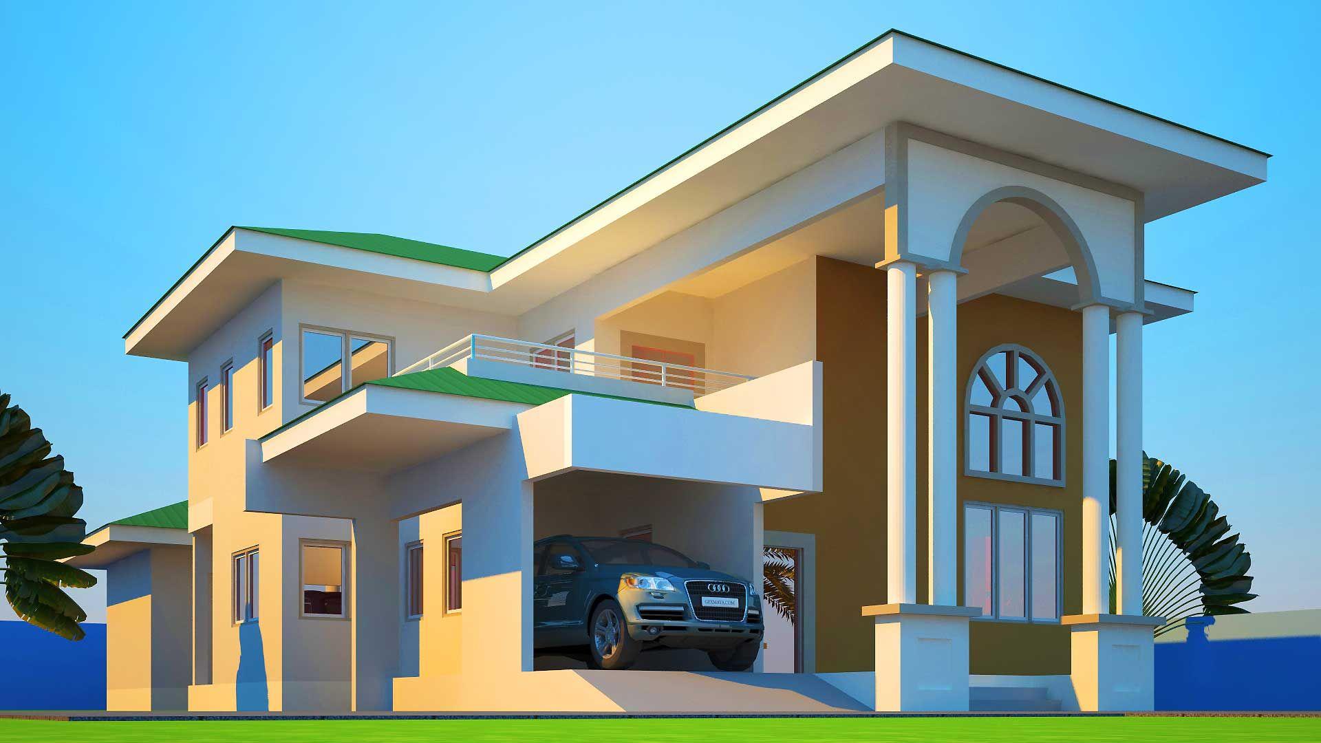 House Plans Ghana Mabiba Bedroom Plan Design Home sq ft
