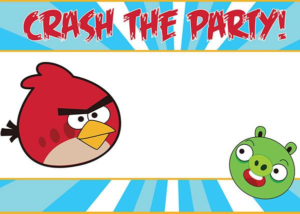 Crash the party Angry Birds Party Invitation – Party Invitation Images