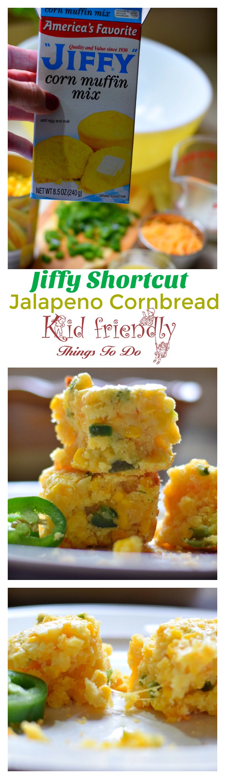 Shortcut Jalapeno and Cheese Corn Bread Using Jiffy Mix #mexicancornbreadcasserole