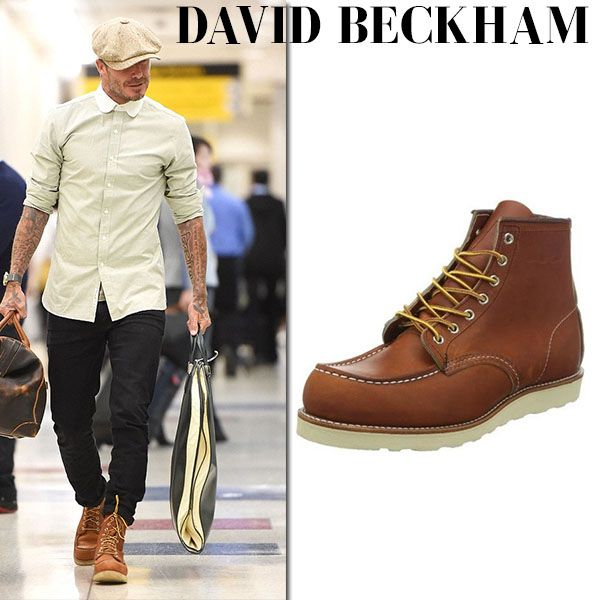 David Beckham in brown leather boots  4b74cbb0b