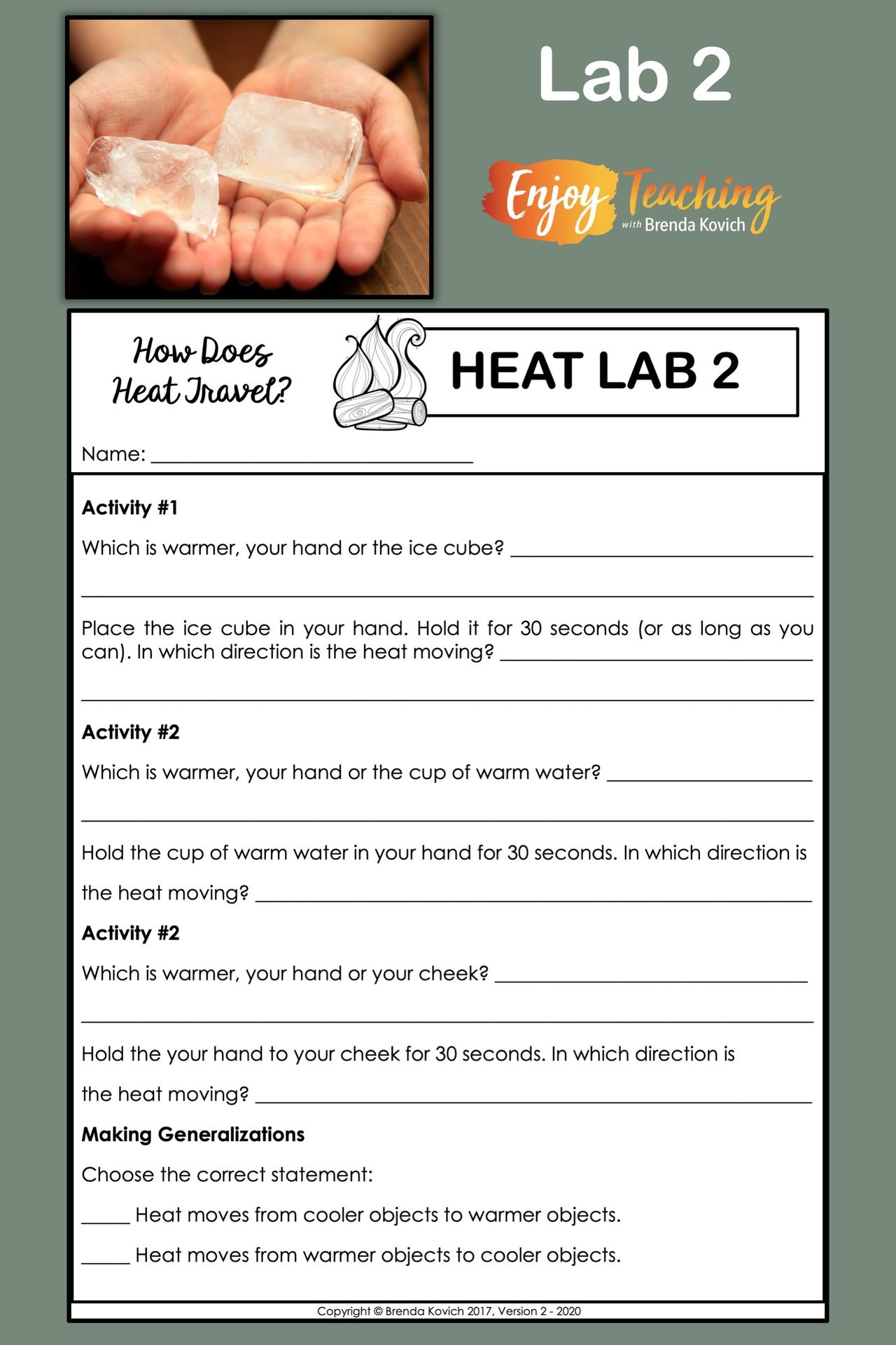 Teaching Thermal Energy with Heat Activities for Kids   Thermal energy  activities [ 1920 x 1280 Pixel ]