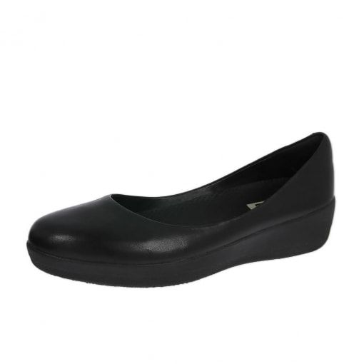 cfed250b7 FitFlop™ Leather Superballerina™ Shoes All Black