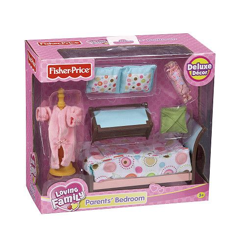 Fisher-Price Loving Family Dollhouse Furniture Set - Parents Bedroom
