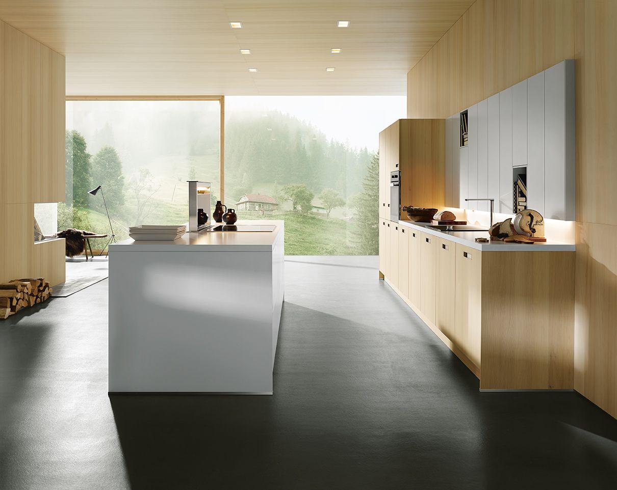 Die Architektur der Küche ist beeindruckend, reduziert auf