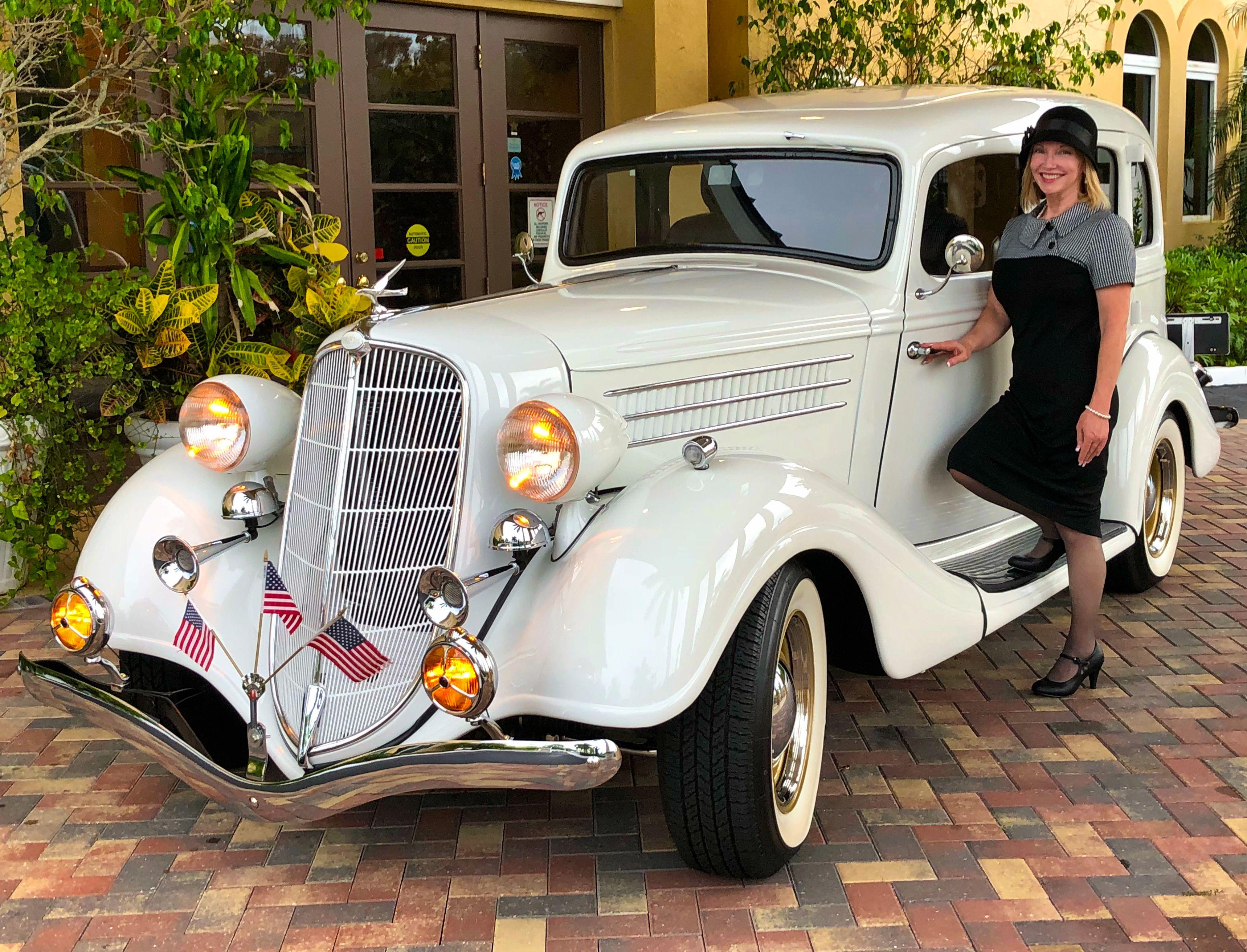 Vintage Style Wedding Day In 2020 Vintage Car Wedding Wedding Classic Wedding Car