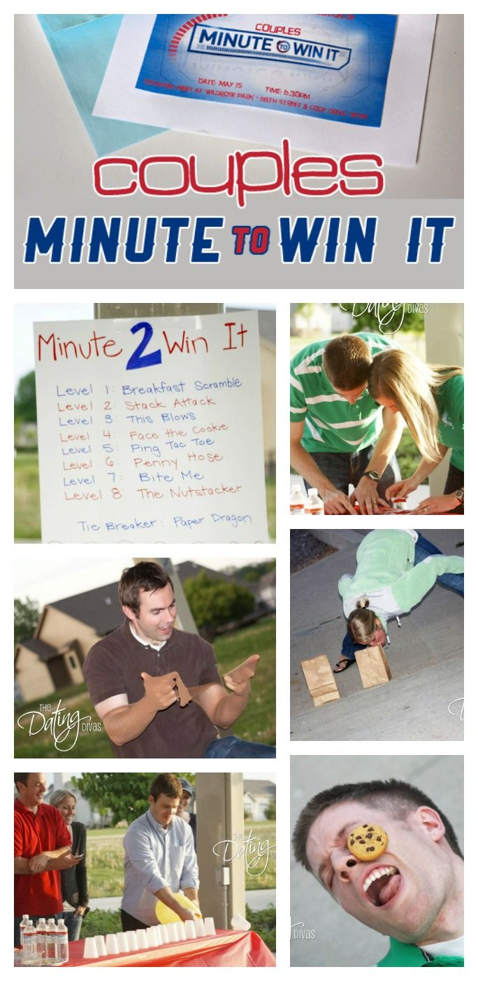 Couples Minute to Win It Couples, Gaming and Game night