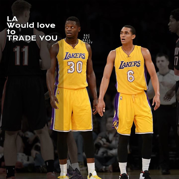 Los Angeles Lakers Players Are Upset And Feeling Unsettled Management Of The Team Would Love To Get R Los Angeles Lakers Players Julius Randle Jordan Clarkson